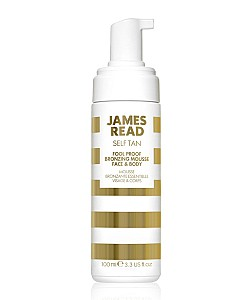 James read : FOOL PROOF BRONZING MOUSSE FACE BODY